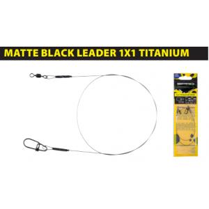 MATTE BLACK: LEADER 1x1 TITANIUM