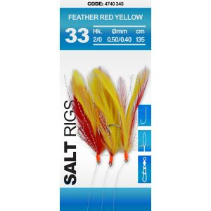 SALT RIG #33 - FEATHER RED YELLOW