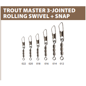 3-JOINTED ROLLING SWIVEL+SNAP