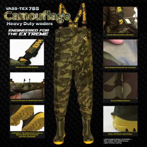 VASS-TEX 785 Heavy Duty Camo Chest Waders