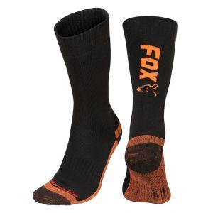 Black / Orange Thermolite long socks