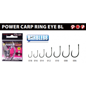 POWER CARP: RING EYE BL (barbless)