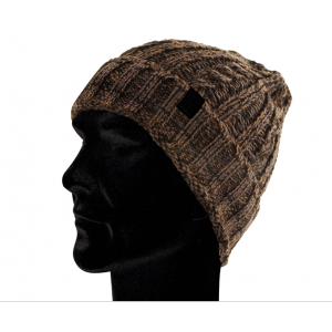 CABLE KNIT BEANIE CAMO