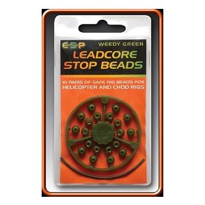 LEADCORE STOP BEADS - camo brown