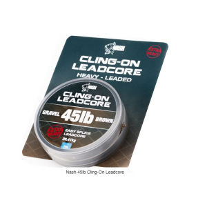 CLING-ON LEADCORE 45lb - Gravel brown