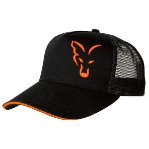 TRUCKER CAP Black/Orange