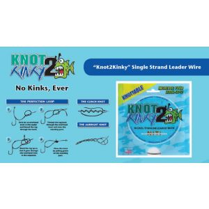 KNOT 2 KINKY Nickel-Titanium Leader Wire 9.2mt