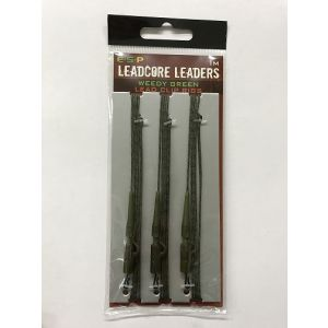 LEADCORE LEADERS 1m - Weedy Green lead clip rigs