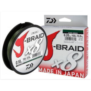 J-BRAID x8 150mt - Dark Green