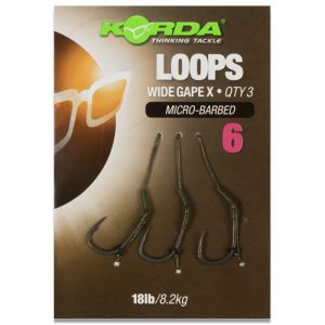 LOOPS: Wide Gape X (Micro-Barbed) 18lb