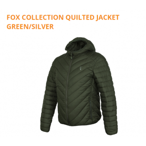 QUILTED JACKET GREEN/SILVER