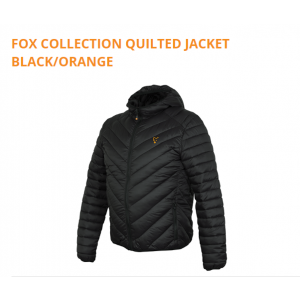 QUILTED JACKET BLACK/ORANGE
