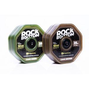 Rock Bottom Tungsten Coated Hooklink Semi-stiff 25lb