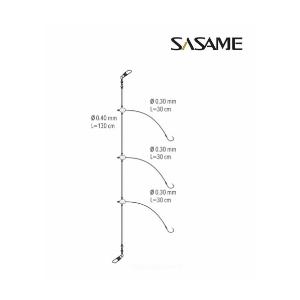 PREDVEZ 3 UDICE  1/0 (0.35-0.45mm/30cm)