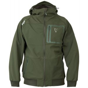 GREEN & SILVER SHELL HOODIE