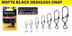 MATTE BLACK: SNAGLESS SNAP